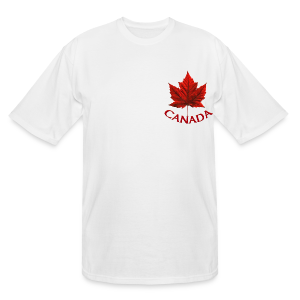 Men's Canada T- Shirt Souvenir Red Maple Leaf  Ringer T-shirts - Men's Tall T-Shirt