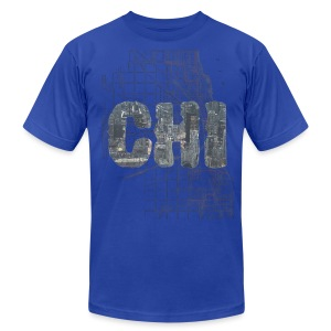 Chicago Sky Map - Men's T-Shirt by American Apparel