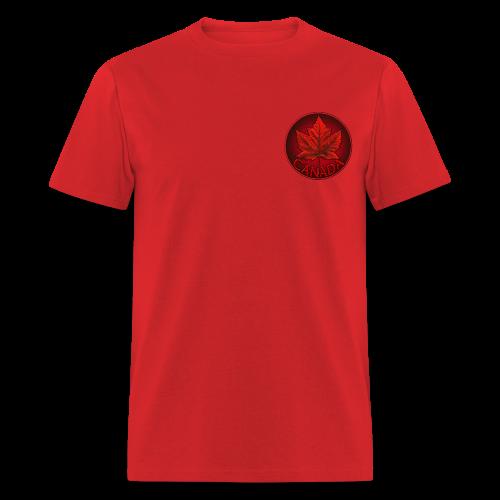 Men's Canada Shirt Souvenir Red Maple Leaf Men's Shirts - Men's T-Shirt