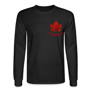 Men's Canada Shirt Souvenir Red Maple Leaf  Shirts Jersey - Men's Long Sleeve T-Shirt