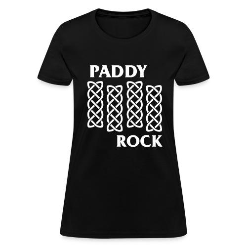 Official Women's Paddy Rock T-shirt (Black) - Women's T-Shirt
