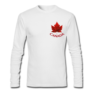 Men's Canada Shirt Souvenir Red Maple Leaf  Shirts Jersey - Men's Long Sleeve T-Shirt by Next Level