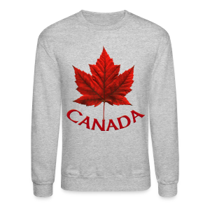 Canada Shirt Souvenir Red Maple Leaf Sweatshirts - Crewneck Sweatshirt
