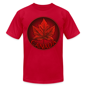 Canada Maple Leaf Souvenir Men's T- Shirt  - Men's T-Shirt by American Apparel