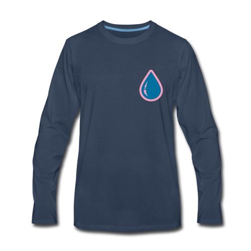 DD Big Drip NAVY-T LS - Men's Premium Long Sleeve T-Shirt