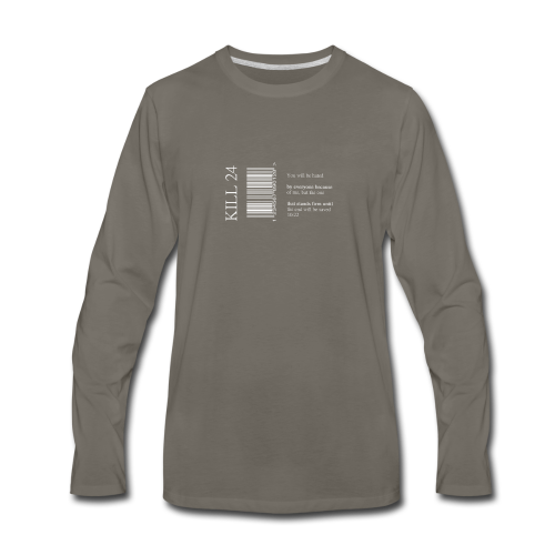 Kill 24 asphalt LS - Men's Premium Long Sleeve T-Shirt