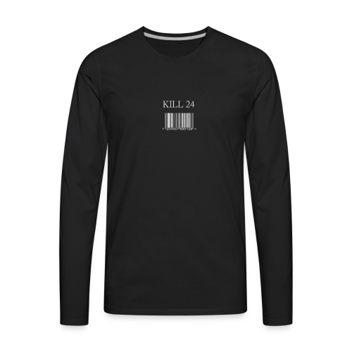 Kill 24 Black LS - Men's Premium Long Sleeve T-Shirt