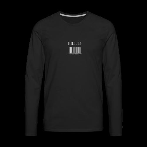 Kill 24 Black LS - Men's Premium Long Sleeve T-Shirt