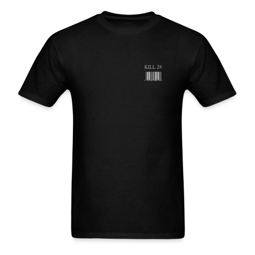 Kill 24 Barcode shirt SS (Black) - Men's T-Shirt