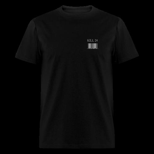 Kill 24 Barcode shirt SS (Black) - Men's T-Shirt
