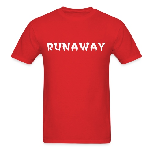 RUNAWAY Tee, Red/White - Men's T-Shirt