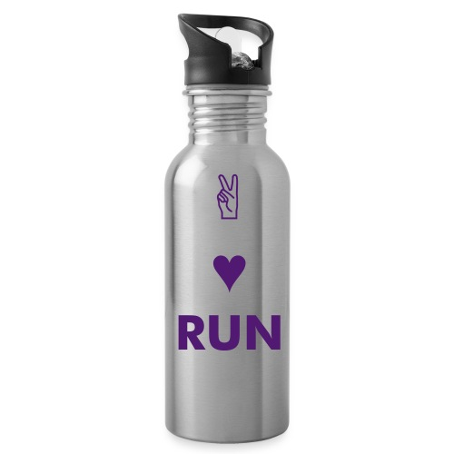 Peace, Love, Run - Water Bottle