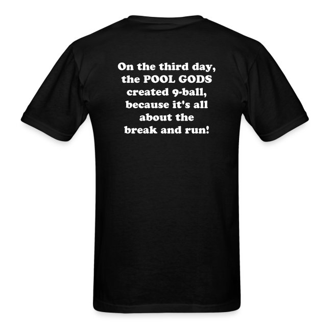 On the third day... T-shirt.