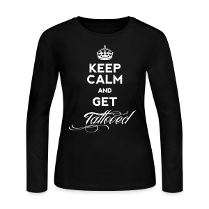 Keep Calm & Get Tattooed Women's Long Sleeve Jersey - Women's Long Sleeve Jersey T-Shirt