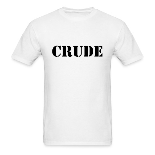 Crude Ninja Tee, White - Men's T-Shirt