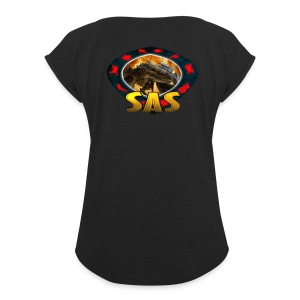 SAS Logo Women's Roll Cuff T-Shirt - Women's Roll Cuff T-Shirt