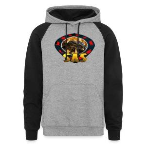 SAS Logo Color Block Hoodie - Colorblock Hoodie