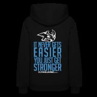 Hoodies ~ Women's Hoodie ~ Stronger| CutAndJacked | Womens hoodie (back Print)
