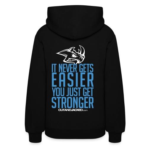 Stronger| CutAndJacked | Womens hoodie (back Print) - Women's Hoodie