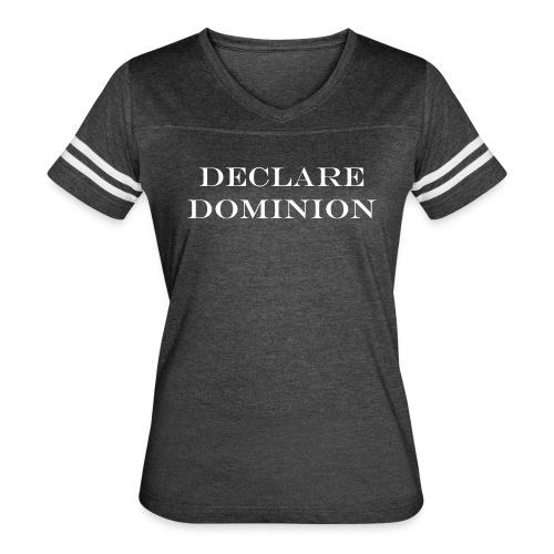Declare Dominion Women's Vintage Ringer Tshirt - Women's Vintage Sport T-Shirt