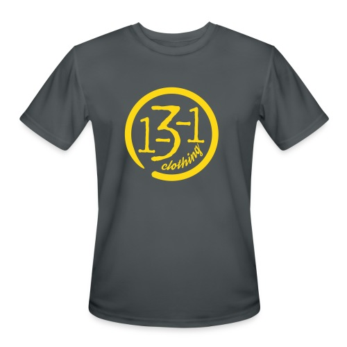 Sport Tek- 1-3-1 Gray/Gold - Men's Moisture Wicking Performance T-Shirt