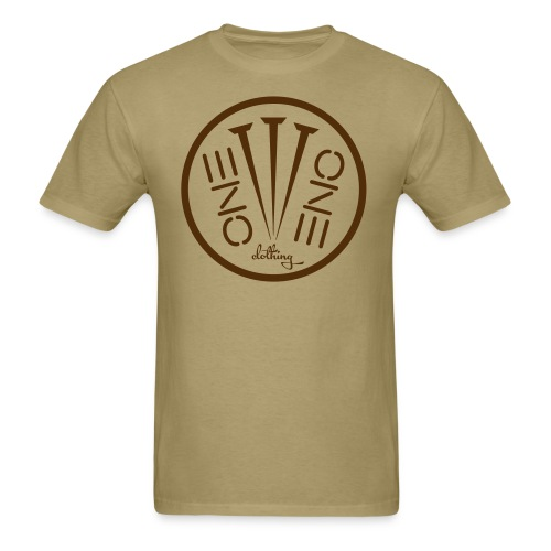 Fruit of the Loom- 3Nails Brown Font - Men's T-Shirt