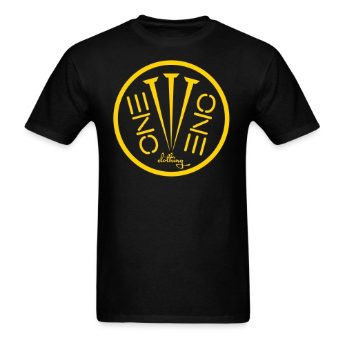 Fruit of the Loom- 3Nails Yellow Font - Men's T-Shirt