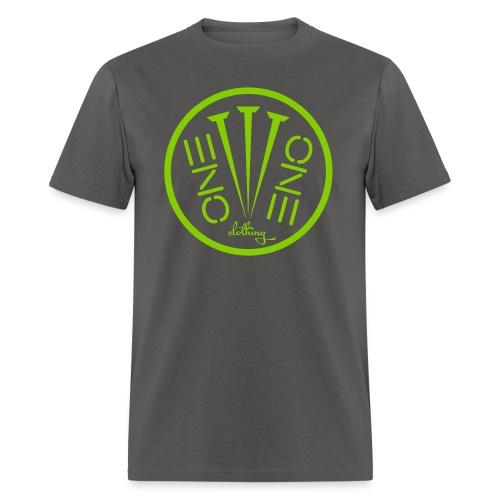 Fruit of the Loom- 3Nails Apple Green Font - Men's T-Shirt