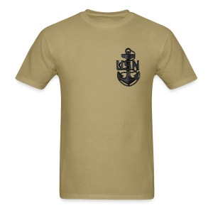 US Navy Subdued CPO Device Shirt - Men's T-Shirt