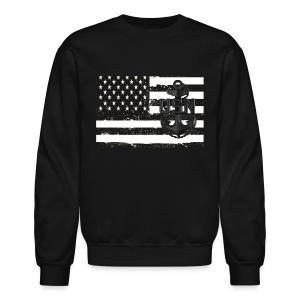 US Navy CPO Flag Sweat Shirt - Crewneck Sweatshirt