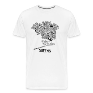 QUEENS MAP T-SHIRT - Men's Premium T-Shirt