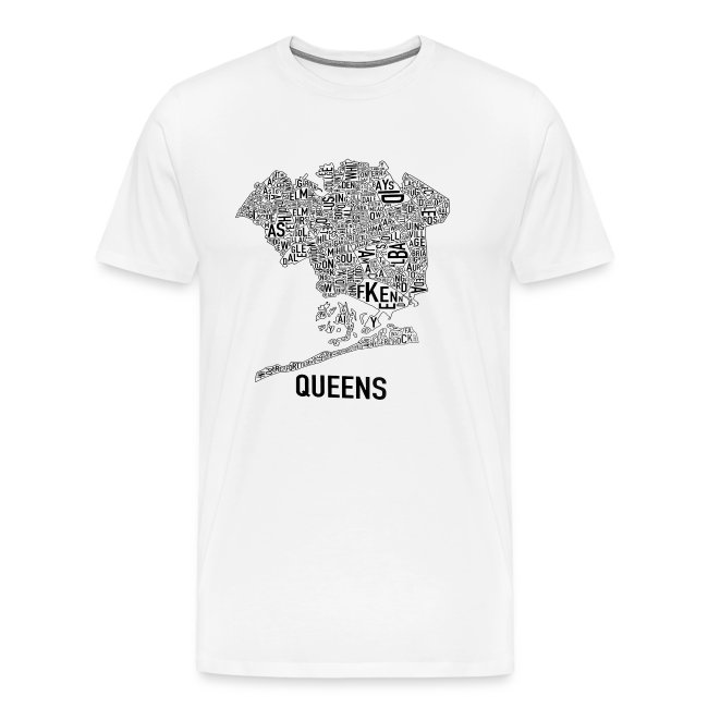 QUEENS MAP T-SHIRT