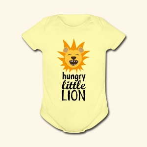 Hungry Little Lion - Short Sleeve Baby Bodysuit