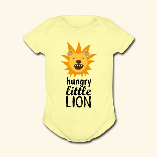 Hungry Little Lion - Organic Short Sleeve Baby Bodysuit