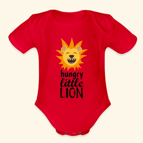 Hungry Little Lion - Organic Short Sleeve Baby Bodysuit