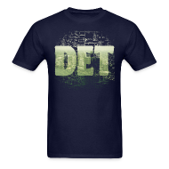 T-Shirts ~ Men's T-Shirt ~ Detroit Skyline Map
