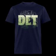 T-Shirts ~ Men's T-Shirt ~ Detroit Skyline Map