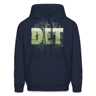 Hoodies ~ Men's Hoodie ~ Detroit Skyline Map