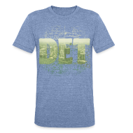 T-Shirts ~ Unisex Tri-Blend T-Shirt ~ Detroit Skyline Map