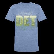 T-Shirts ~ Unisex Tri-Blend T-Shirt ~ Detroit Skyline Map