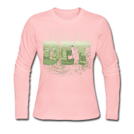 Long Sleeve Shirts ~ Women's Long Sleeve Jersey T-Shirt ~ Detroit Skyline Map