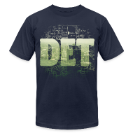 T-Shirts ~ Men's T-Shirt by American Apparel ~ Detroit Skyline Map