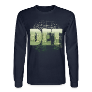 Long Sleeve Shirts ~ Men's Long Sleeve T-Shirt ~ Detroit Skyline Map