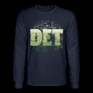 Long Sleeve Shirts ~ Men's Long Sleeve T-Shirt ~ Detroit Skyline Map