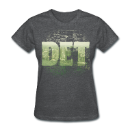 T-Shirts ~ Women's T-Shirt ~ Detroit Skyline Map