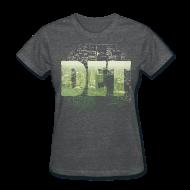 Women's T-Shirts ~ Women's T-Shirt ~ Detroit Skyline Map