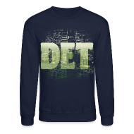 Long Sleeve Shirts ~ Crewneck Sweatshirt ~ Detroit Skyline Map