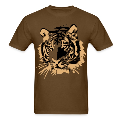 Tiger's Head - Men's T-Shirt