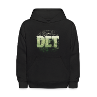 Sweatshirts ~ Kids' Hoodie ~ Detroit Skyline Map