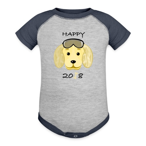 Happy dog 1 - Baby Contrast One Piece